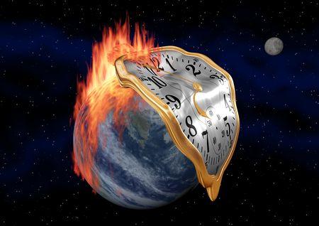 calentamiento global: A ver fob fusi�n durante un ardiente tierra.  Foto de archivo