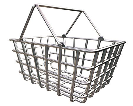 Stylized shopping basket representing the buying of goods online. Stock Photo - 3145491
