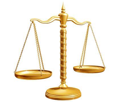 weighing scales: Ornato bilance isolato su uno sfondo bianco