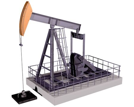 oilwell: Isolated illustration of an oil rig