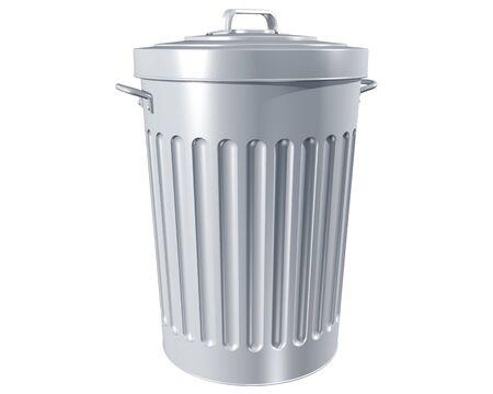trashcan: Illustration of a traditional trashcan