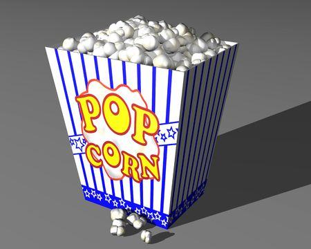 buttery: Illustration of a large box of cinema popcorn Stock Photo