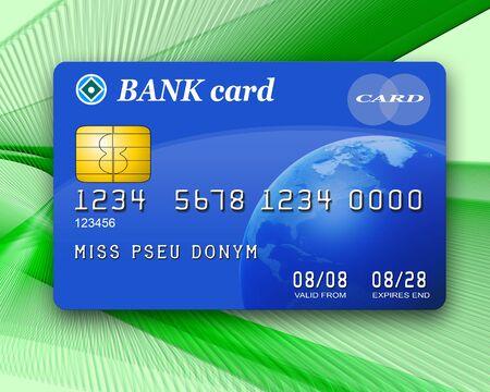Illustration of a typical bank card Фото со стока