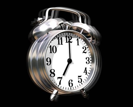sounding: Illustration of an alarm clock sounding off Stock Photo