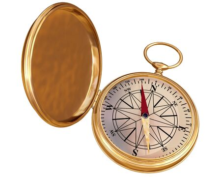 Isolated illustration of an antique compass Stock Illustration - 3496558