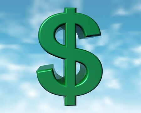 purchasing power: Illustration of the green dollar representing the purchasing power of the green consumer