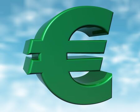 purchasing power: Illustration of the green Euro representing the purchasing power of the green consumer
