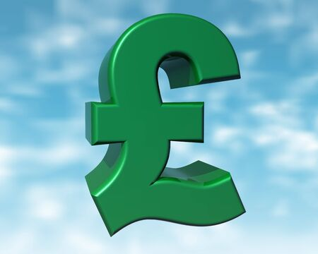 purchasing power: Illustration of the green pound representing the purchasing power of the green consumer