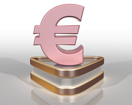 purchasing power: Illustration of the pink euro representing the purchasing power of the pink consumer