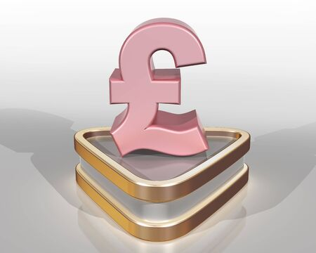 purchasing power: Illustration of the pink pound representing the purchasing power of the pink consumer