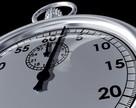 timed: Illustration of a close up view of a stopwatch Stock Photo