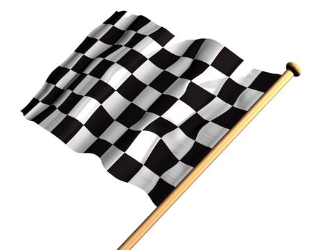 Isolated illustration of a checkered flag illustration