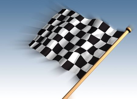 Illustration of a checkered flag for the winner illustration