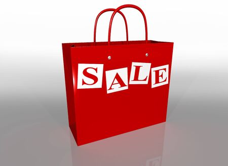 carrier bag: Illustration of a shopping bag in a sale