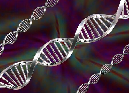 Illustration of three double helix DNA strands illustration