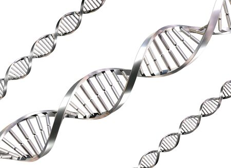 Isolated illustration of double helix DNA strands illustration