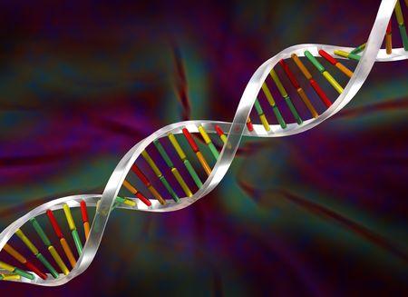 Illustration of a double helix DNA strand illustration