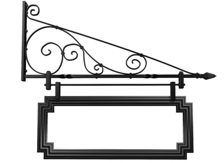 metalwork: Illustration of an isolated blank shop sign Stock Photo
