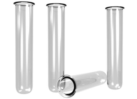 testtube: Isolated illustration of four empty test tubes