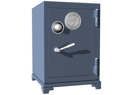 Isolated illustration of a secure locked safe