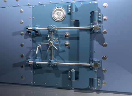 heist: Illustration of a very secure bank vault