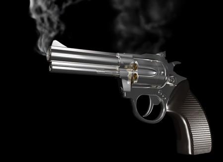 그냥 해 고되었습니다 하 고 연기가 총의 그림