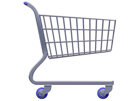 Isolated illustration of a stylized shopping cart side on Stock Illustration - 4391254