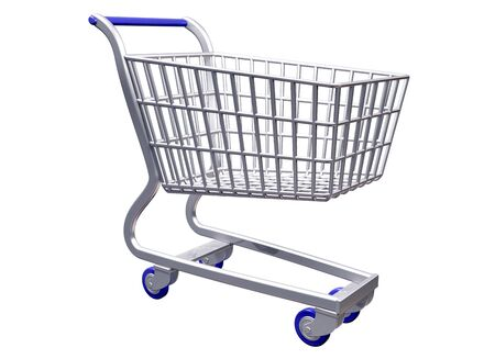 Isolated illustration a stylized shopping cart three quarter view Stock Illustration - 4391255