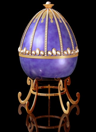 jeweled: Illustration of a highly decorative jeweled Russian Easter Egg Stock Photo