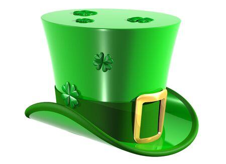 Isolated illustration of an Irish leprechaun top hat Stock Illustration - 4462964