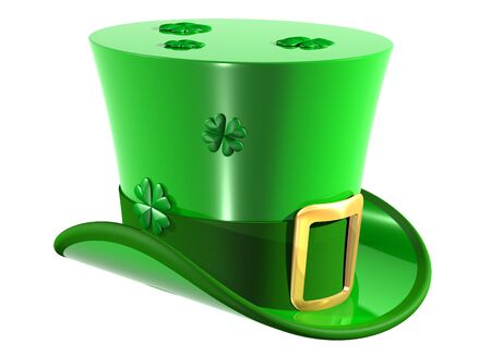 superstitions: Isolated illustration of an Irish leprechaun top hat Stock Photo