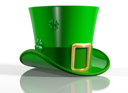 Illustration of an Irish leprechaun top hat Stock Illustration - 4462963