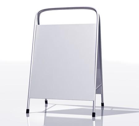 sandwich board: Illustration of a modern blank sandwich board