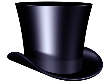 magician: Isolated illustration of an elegant top hat