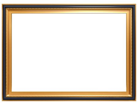 bordering: Isolated illustration of a rectangular Georgian picture frame Stock Photo