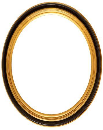 elipse: Aislados ilustraci�n de un marco ovalado georgiano imagen Foto de archivo