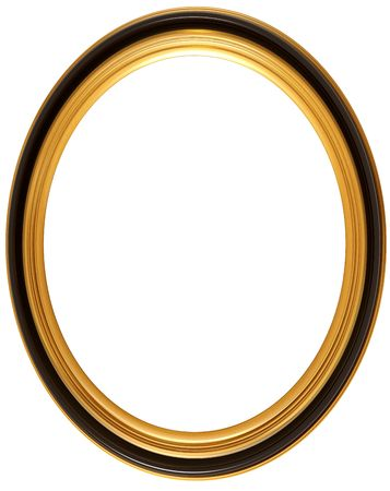 elliptical: Isolated illustration of an oval Georgian picture frame Stock Photo