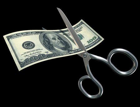 Un centinaio di dollari di bolletta scissa con le forbici a fini fiscali