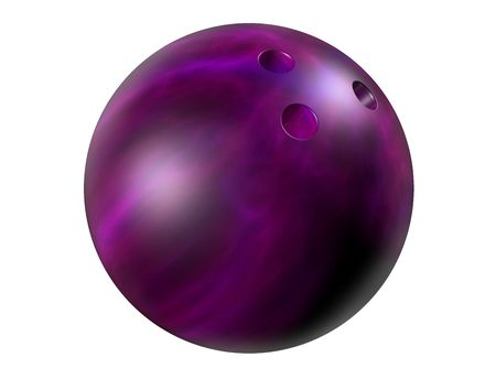 10: Isolated illustration of a shiny marbled bowling ball