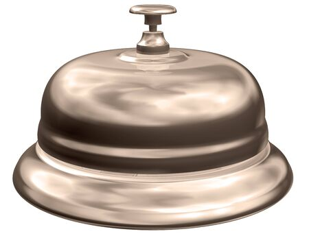 Isolated illustration of an old fashioned hotel table bell illustration