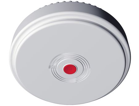 everyday: Isolated illustration of an everyday smoke alarm
