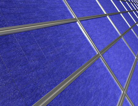 Illustration of close up of a solar panel array illustration