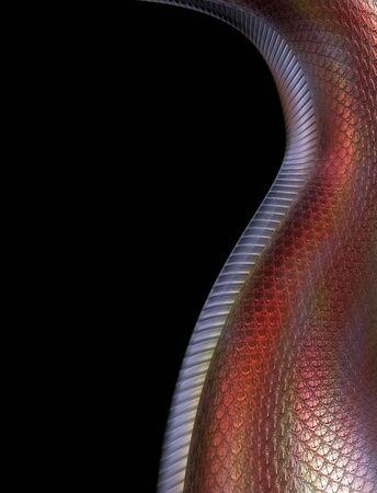 underbelly: Illustrazione stilizzato, mostrando il underbelly morbida di un drago rosso