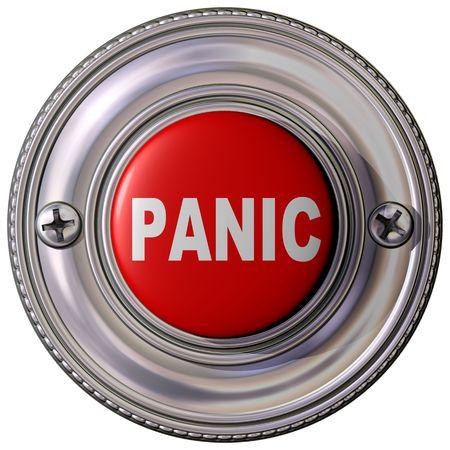 panic button: Illustrazione isolato di un pulsante di emergenza panico