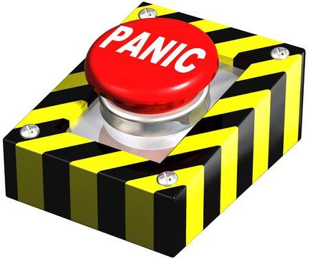 panic button: Isolati illustrazione di un pulsante di emergenza panico Archivio Fotografico