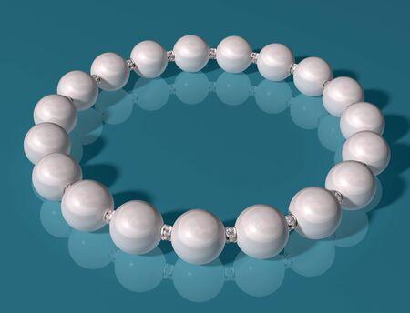 Original illustration of an elegant high class pearl bracelet Reklamní fotografie