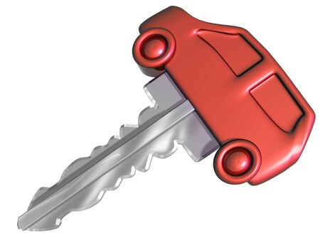 car keys: Isolated illustration of a car shaped car key