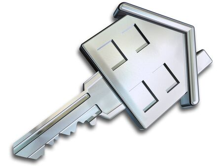 home owner: Illustration of a key in the shape of a house