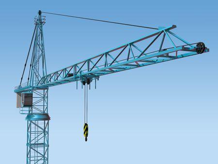 jib: Original illustration of an imposing tower crane