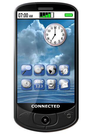 Isolated illustration of an original smart cellphone Stock Illustration - 6920317